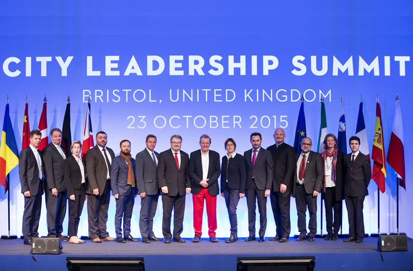 International Mayors at the Bristol Leadership Summit, delivered by Focal Point