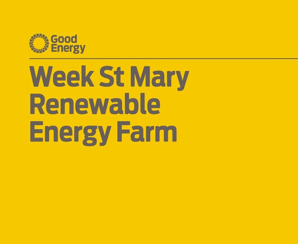 Good Energy consultation document