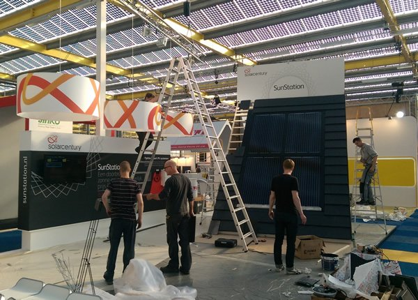 Solacrentury Sunstation exhibition stand build, project managed by Focal Point