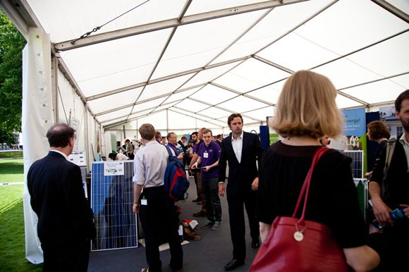 Visitors at the launch of Bristol Solar City