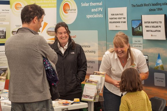 Exhibitors at the Bristol Solar City exhibition, managed by Focal Point
