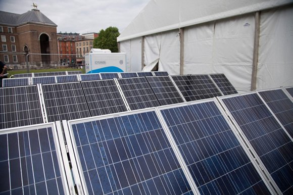Event powered by solar panels, from Focal Point