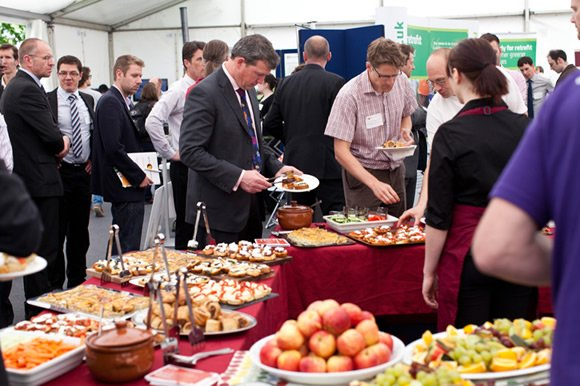 Lunch reception at the Bristol Solar City launch