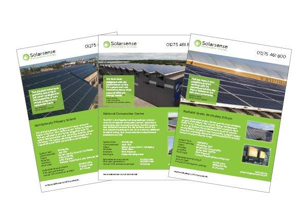 Solarsense case studies designed by Focal Point