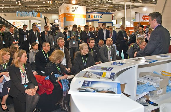 Audience at the Ecobuild Solar Hub, designed and delivered by Focal Point