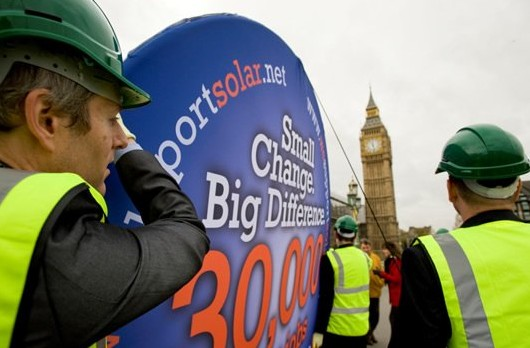 We Support Solar march through central London, organised by Focal Point