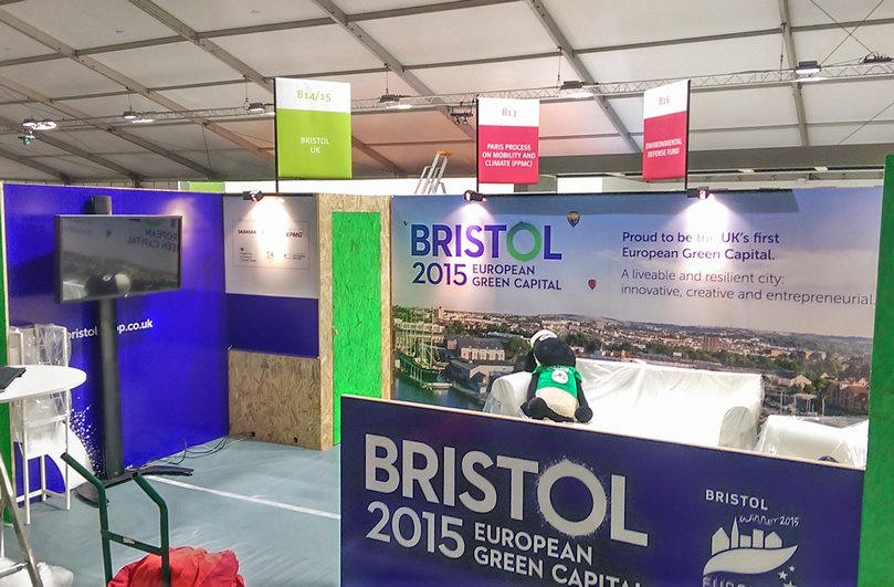 The Bristol City Council stand at COP21 Paris, delivered by Focal Point