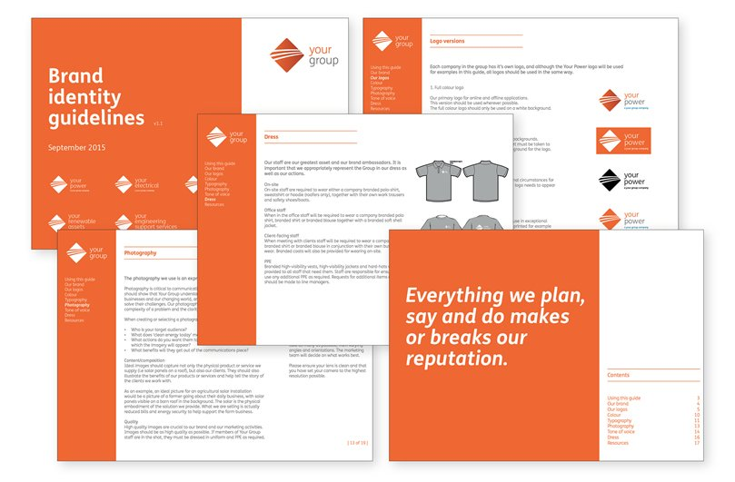 Brand guide development from Focal Point