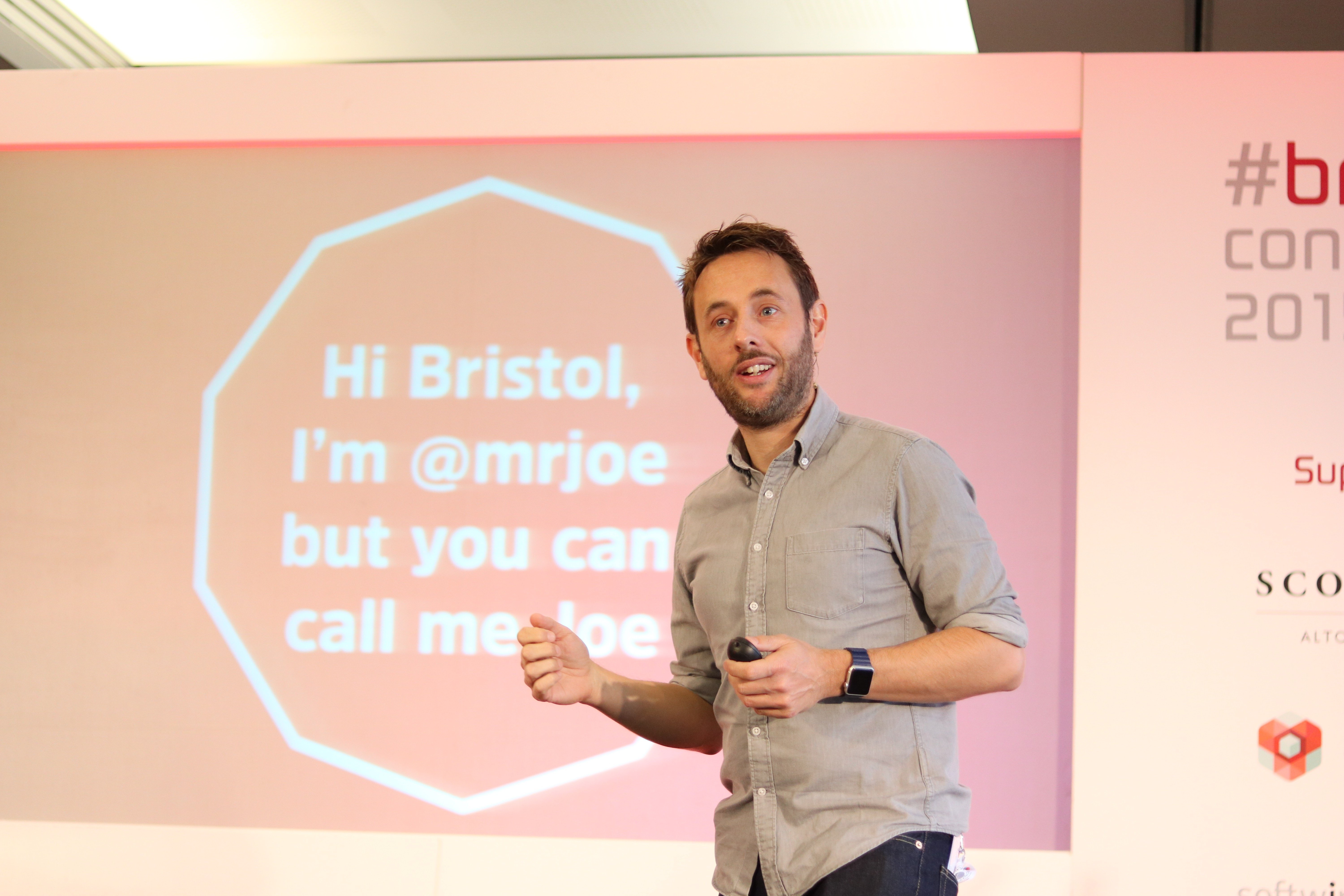Mr Joe speaking at Bristech 2015