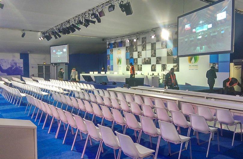 A breakout auditorium at COP21 Paris