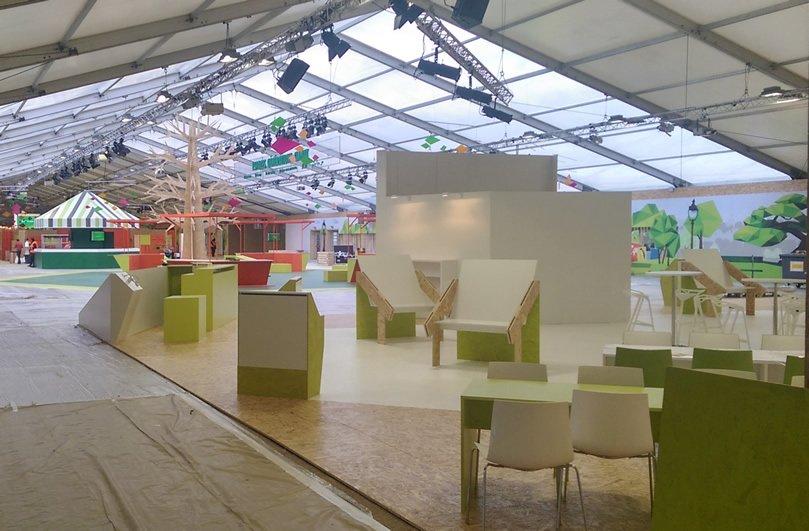 One of the main exhibition halls at COP21 Paris