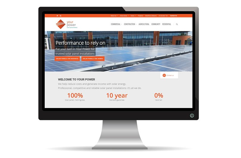 Your Power website designed and built by Focal Point