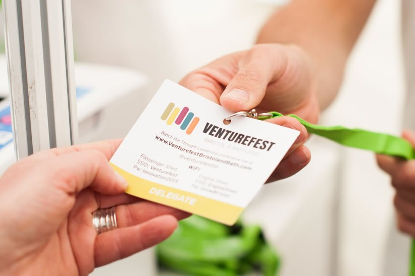 Sustainable conference badge