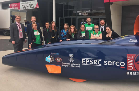 BSSW event team with the Bloodhound SSC