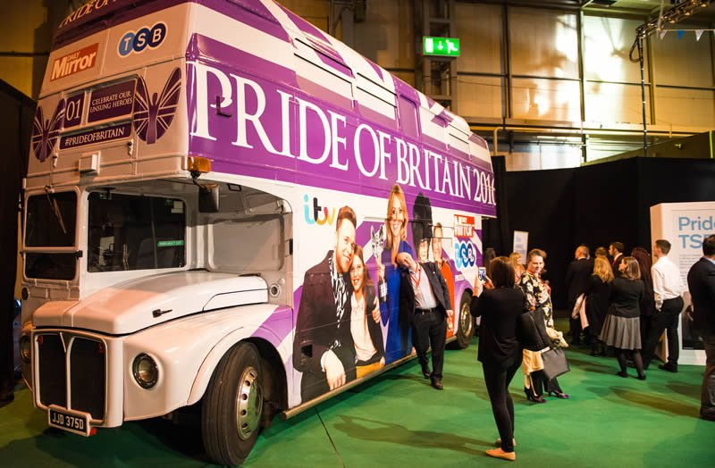 Pride of Britain bus at Good to be TSB conference