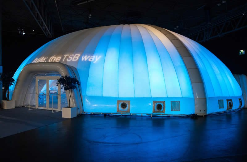 Inflatable dome at Good to be TSB conference